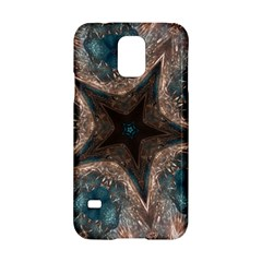 Kaleidoscopic Design Elegant Star Brown Turquoise Samsung Galaxy S5 Hardshell Case  by yoursparklingshop