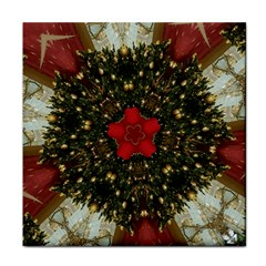 Christmas Wreath Stars Green Red Elegant Face Towel by yoursparklingshop