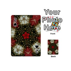Christmas Wreath Stars Green Red Elegant Playing Cards 54 (mini)  by yoursparklingshop