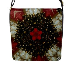 Christmas Wreath Stars Green Red Elegant Flap Messenger Bag (l)  by yoursparklingshop
