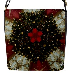 Christmas Wreath Stars Green Red Elegant Flap Messenger Bag (s) by yoursparklingshop