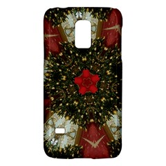 Christmas Wreath Stars Green Red Elegant Galaxy S5 Mini by yoursparklingshop