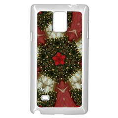 Christmas Wreath Stars Green Red Elegant Samsung Galaxy Note 4 Case (white) by yoursparklingshop