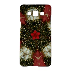 Christmas Wreath Stars Green Red Elegant Samsung Galaxy A5 Hardshell Case  by yoursparklingshop