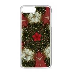 Christmas Wreath Stars Green Red Elegant Apple Iphone 8 Plus Seamless Case (white) by yoursparklingshop