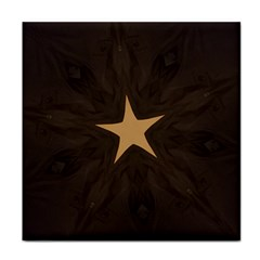 Rustic Elegant Brown Christmas Star Design Face Towel by yoursparklingshop