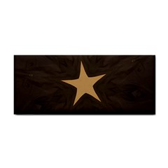 Rustic Elegant Brown Christmas Star Design Cosmetic Storage Cases by yoursparklingshop