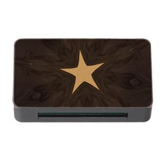 Rustic Elegant Brown Christmas Star Design Memory Card Reader With Cf by yoursparklingshop