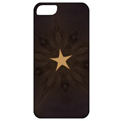 Rustic Elegant Brown Christmas Star Design Apple Iphone 5 Classic Hardshell Case by yoursparklingshop