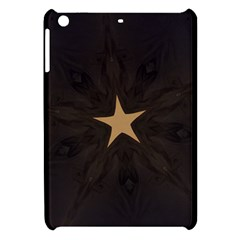 Rustic Elegant Brown Christmas Star Design Apple Ipad Mini Hardshell Case by yoursparklingshop