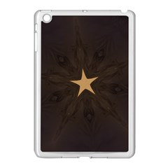 Rustic Elegant Brown Christmas Star Design Apple Ipad Mini Case (white) by yoursparklingshop