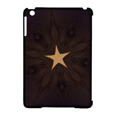 Rustic Elegant Brown Christmas Star Design Apple Ipad Mini Hardshell Case (compatible With Smart Cover) by yoursparklingshop