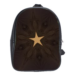 Rustic Elegant Brown Christmas Star Design School Bag (xl) by yoursparklingshop
