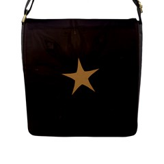 Rustic Elegant Brown Christmas Star Design Flap Messenger Bag (l)  by yoursparklingshop