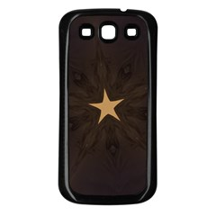 Rustic Elegant Brown Christmas Star Design Samsung Galaxy S3 Back Case (black) by yoursparklingshop