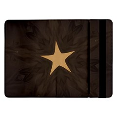 Rustic Elegant Brown Christmas Star Design Samsung Galaxy Tab Pro 12 2  Flip Case by yoursparklingshop
