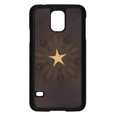 Rustic Elegant Brown Christmas Star Design Samsung Galaxy S5 Case (black) by yoursparklingshop
