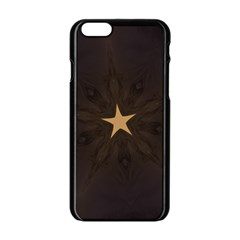 Rustic Elegant Brown Christmas Star Design Apple Iphone 6/6s Black Enamel Case by yoursparklingshop