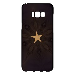 Rustic Elegant Brown Christmas Star Design Samsung Galaxy S8 Plus Hardshell Case  by yoursparklingshop