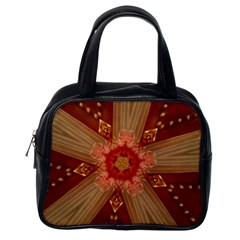 Red Star Ribbon Elegant Kaleidoscopic Design Classic Handbags (one Side) by yoursparklingshop
