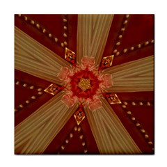 Red Star Ribbon Elegant Kaleidoscopic Design Face Towel by yoursparklingshop
