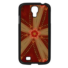Red Star Ribbon Elegant Kaleidoscopic Design Samsung Galaxy S4 I9500/ I9505 Case (black) by yoursparklingshop