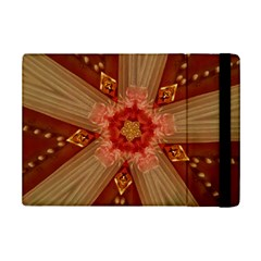 Red Star Ribbon Elegant Kaleidoscopic Design Ipad Mini 2 Flip Cases by yoursparklingshop