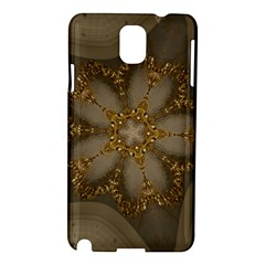 Golden Flower Star Floral Kaleidoscopic Design Samsung Galaxy Note 3 N9005 Hardshell Case by yoursparklingshop