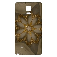 Golden Flower Star Floral Kaleidoscopic Design Galaxy Note 4 Back Case by yoursparklingshop