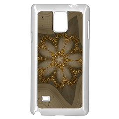 Golden Flower Star Floral Kaleidoscopic Design Samsung Galaxy Note 4 Case (white) by yoursparklingshop