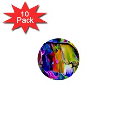 Abstract Acryl Art 1  Mini Buttons (10 Pack)  by tarastyle