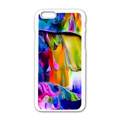 Abstract Acryl Art Apple Iphone 6/6s White Enamel Case