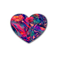 Abstract Acryl Art Rubber Coaster (heart)  by tarastyle
