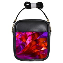 Abstract Acryl Art Girls Sling Bags