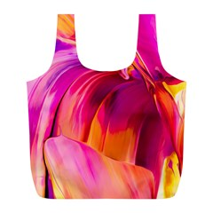 Abstract Acryl Art Full Print Recycle Bags (l)