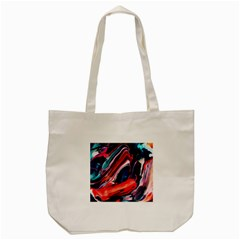 Abstract Acryl Art Tote Bag (cream) by tarastyle