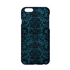 Damask2 Black Marble & Teal Leather Apple Iphone 6/6s Hardshell Case by trendistuff