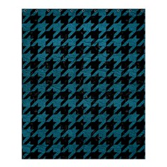 Houndstooth1 Black Marble & Teal Leather Shower Curtain 60  X 72  (medium)  by trendistuff