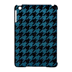 Houndstooth1 Black Marble & Teal Leather Apple Ipad Mini Hardshell Case (compatible With Smart Cover) by trendistuff