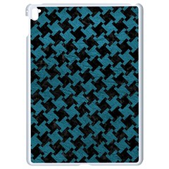 Houndstooth2 Black Marble & Teal Leather Apple Ipad Pro 9 7   White Seamless Case by trendistuff