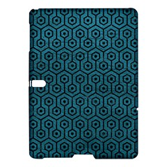 Hexagon1 Black Marble & Teal Leather Samsung Galaxy Tab S (10 5 ) Hardshell Case  by trendistuff