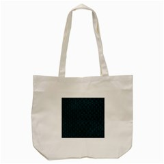 Hexagon1 Black Marble & Teal Leather (r) Tote Bag (cream) by trendistuff