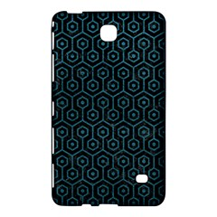Hexagon1 Black Marble & Teal Leather (r) Samsung Galaxy Tab 4 (8 ) Hardshell Case  by trendistuff