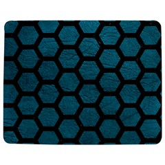 Hexagon2 Black Marble & Teal Leather Jigsaw Puzzle Photo Stand (rectangular) by trendistuff