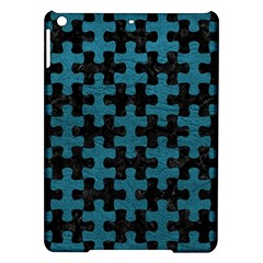 Puzzle1 Black Marble & Teal Leather Ipad Air Hardshell Cases by trendistuff