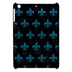 Royal1 Black Marble & Teal Leather Apple Ipad Mini Hardshell Case by trendistuff