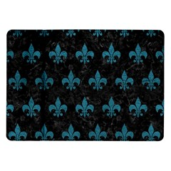 Royal1 Black Marble & Teal Leather Samsung Galaxy Tab 10 1  P7500 Flip Case by trendistuff