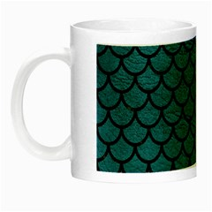 Scales1 Black Marble & Teal Leather Night Luminous Mugs by trendistuff