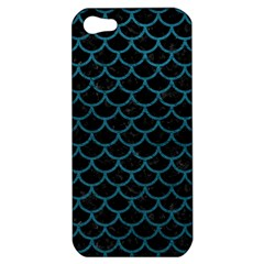 Scales1 Black Marble & Teal Leather (r) Apple Iphone 5 Hardshell Case by trendistuff