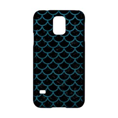 Scales1 Black Marble & Teal Leather (r) Samsung Galaxy S5 Hardshell Case  by trendistuff